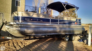 Used Sun Tracker TriToon Party Barge DLX XP3 Pontoon Boat For Sale