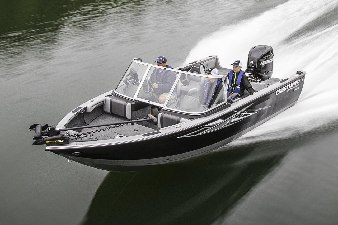 2017 new crestliner 1950 super hawk aluminum fishing boat for Best aluminum fishing boat