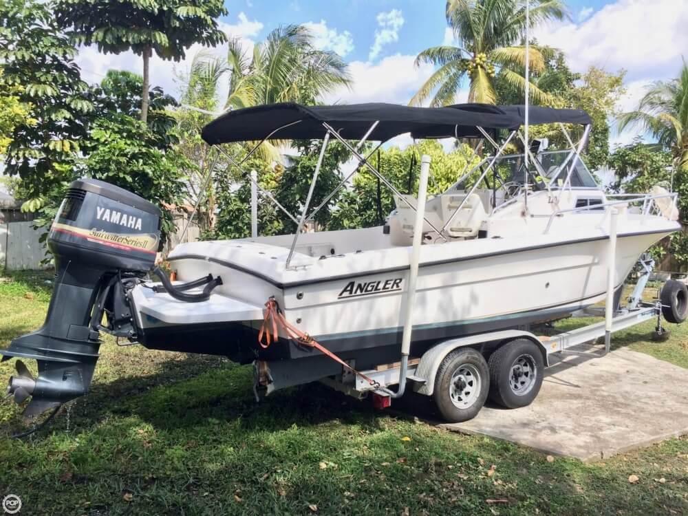 2002 used angler 220 wa walkaround fishing boat for sale for Angler fish for sale