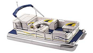 Used Parti Kraft Commander PKC200 SC Pontoon Boat For Sale