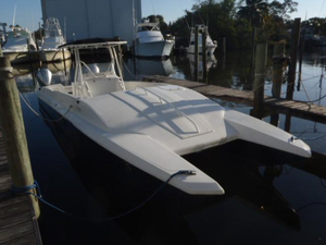 Used Thunder Power Boats Kingfish 32 Power Catamaran Boat For Sale
