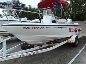 Used Boston Whaler 17 Outrage II Center Console Fishing Boat For Sale