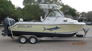 Used Polar 2300 Walkaround Saltwater Fishing Boat For Sale