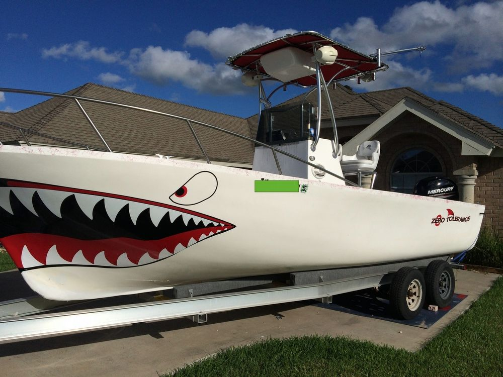 1983 used zero tolerance 24 center console fishing boat for Fishing boats for sale in texas