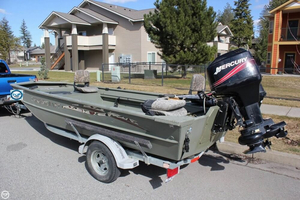 Used Smoker Craft 1660 Sportsman Tiller Aluminum Fishing Boat For Sale