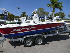 New Epic 21 SC Red/Dark Blue #A01F Bay Boat For Sale