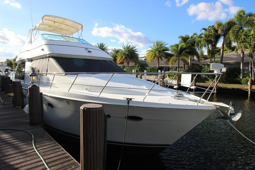 1999 used carver 530 voyager pilothouse motor yacht for for Used motor yachts for sale in florida