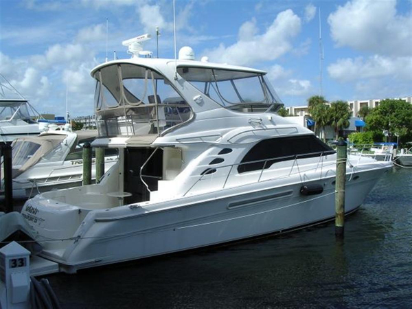 Used Sea Ray 560 Sedan Bridge Express Cruiser Boat For Sale