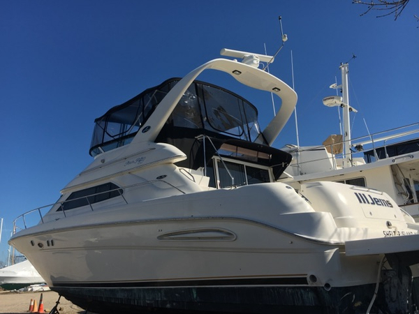 Used Sea Ray 450 Express Bridge Flybridge Boat For Sale