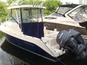 Used Cobia 25 Cuddy Cabin Center Console Fishing Boat For Sale