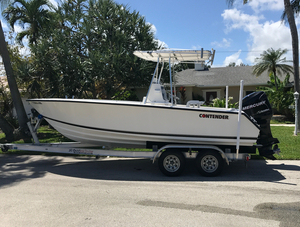 Used Contender Fishing Boat 21 Open Sports Fishing Boat For Sale