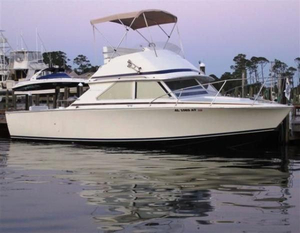 Used Bertram 28 Flybridge Saltwater Fishing Boat For Sale