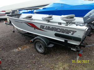 Used Alumacraft Fisherman 160 Tiller Freshwater Fishing Boat For Sale