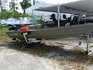 Used Tracker 15 Topper Jon Boat For Sale