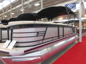 New Aqua Patio 255 CB Triple Tube Package Pontoon Boat For Sale