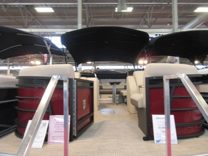 New Aqua Patio 235 Elite Triple Tube Package Pontoon Boat For Sale