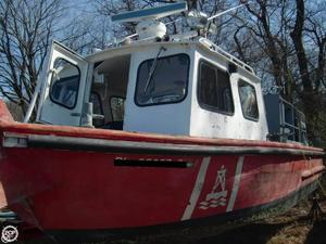 Used Custom Aluminum 26 Utility Boat For Sale