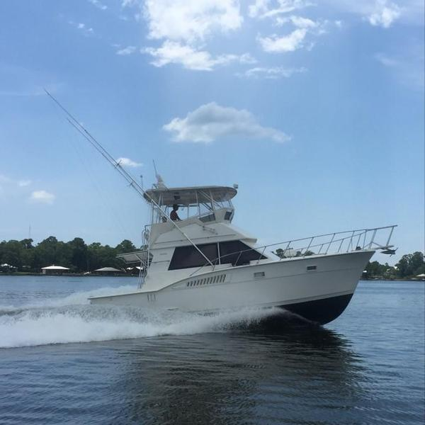 Used Hatteras 37 CV Cat C9 Repower Convertible Fishing Boat For Sale