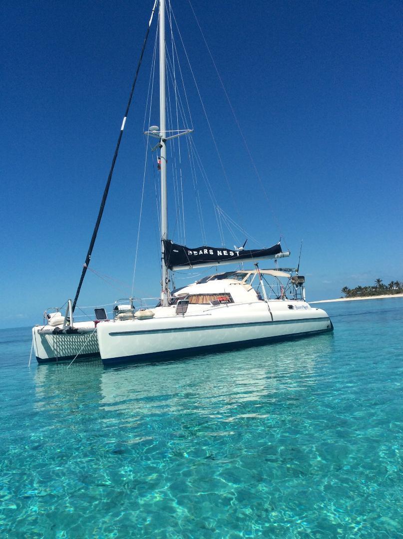1992 Used Fountaine Pajot Antigua 37 Catamaran Sailboat For Sale