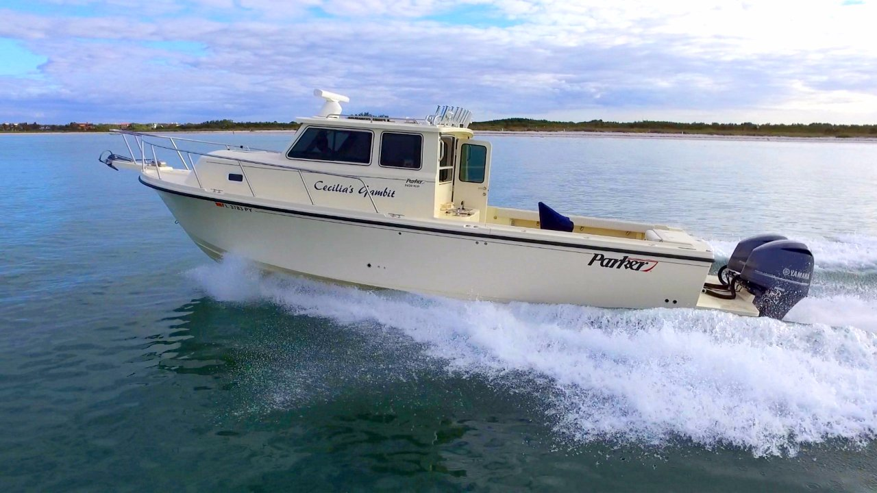 2016 used parker 3420 xld saltwater fishing boat for sale for Fishing pontoons for sale