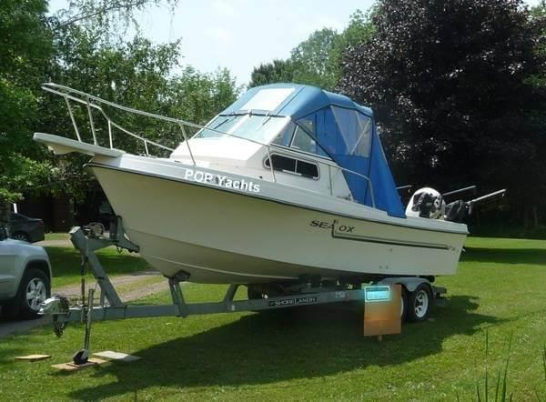 Used Sea Ox 230C Walkaround Fishing Boat For Sale