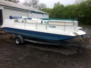 Used Hurricane FUN DECK 196 Deck Boat For Sale
