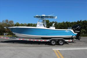 Used Ocean Runner Twin Outboard Center Console Fishing Boat For Sale