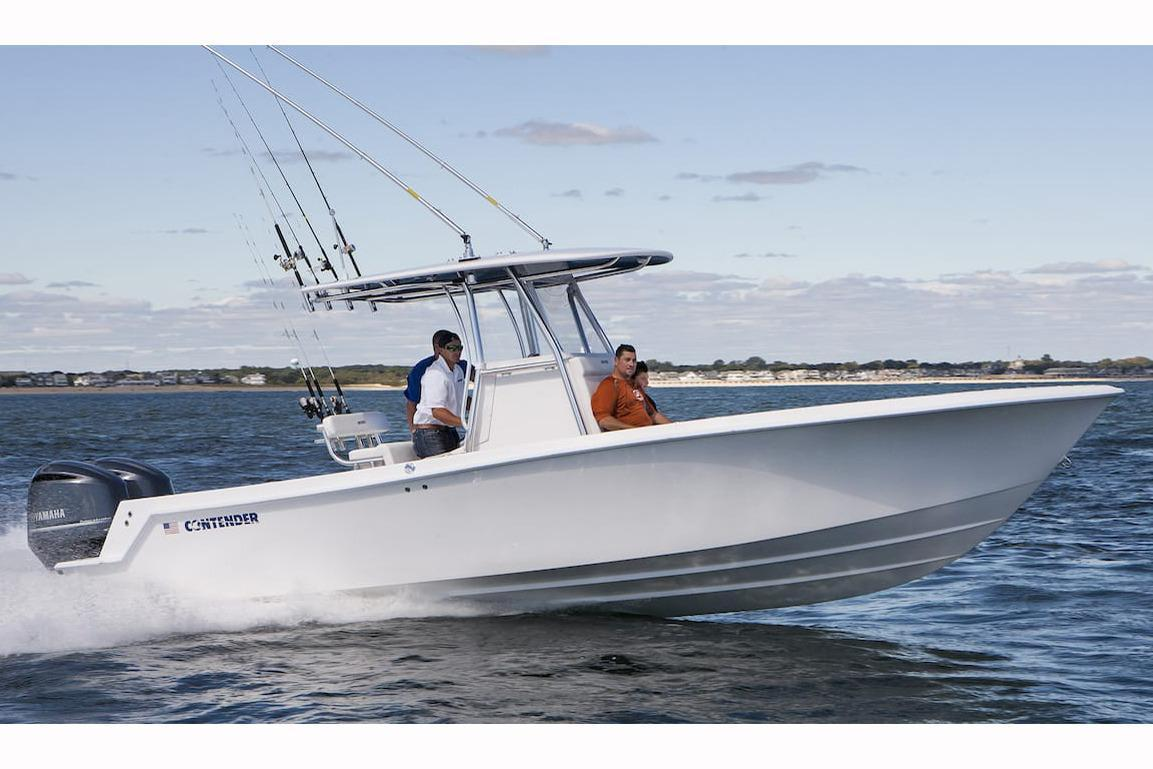 2017 used contender 28 sport center console fishing boat for Center console sport fishing boats