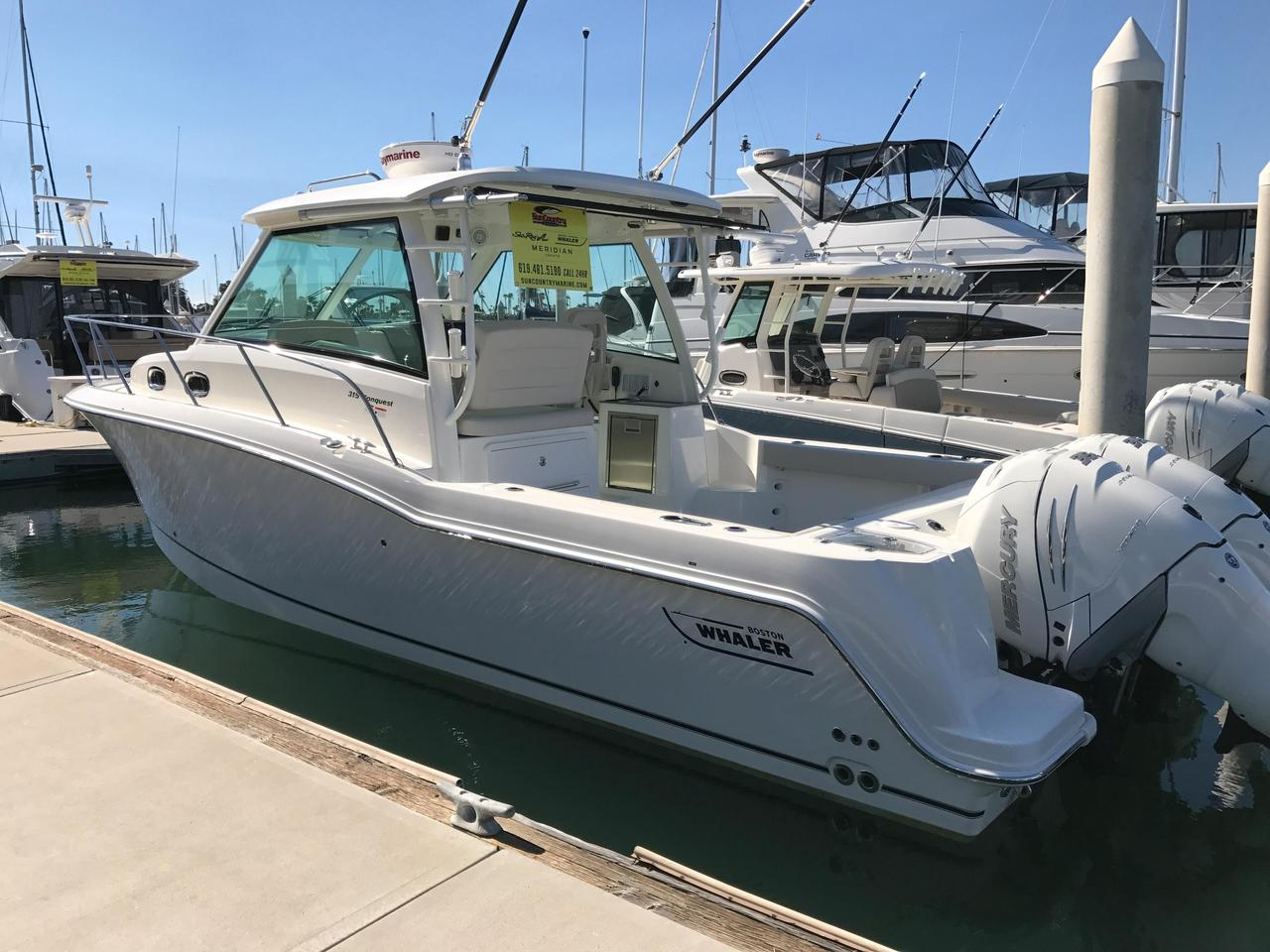 2017 new boston whaler 315 conquest walkaround fishing for Fishing boats for sale san diego