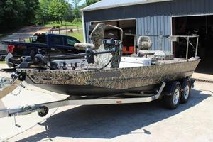 Used Rockproof River Rocket 19 Aluminum Fishing Boat For Sale