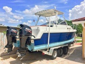 Used Glacier Bay 252 Cuddy Power Catamaran Boat For Sale