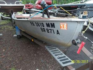 Used Grumman open fish Freshwater Fishing Boat For Sale