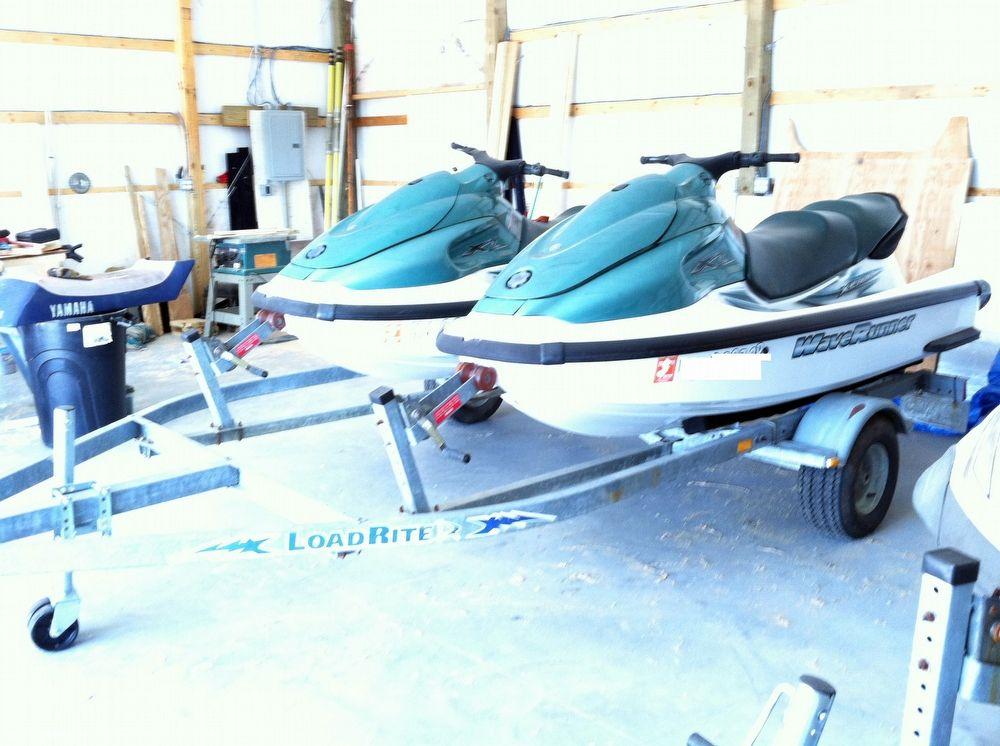 2002 used yamaha 2 xl 700 jet skis w dual trailer for Used yamaha jet ski sale