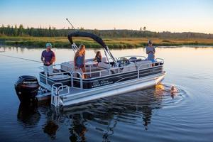New Suntracker Fishing Barge 20 Pontoon Boat For Sale