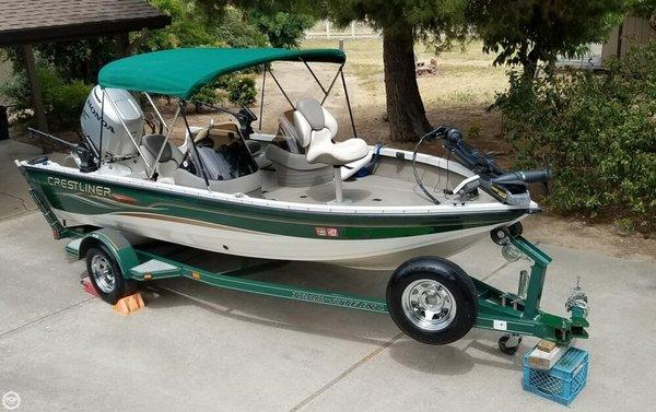 Used Crestliner Fish Hawk 1750 SC Aluminum Fishing Boat For Sale