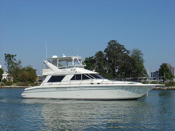 Used Sea Ray Sedan Bridge 550 Fresh Re-Builds Cruiser Boat For Sale