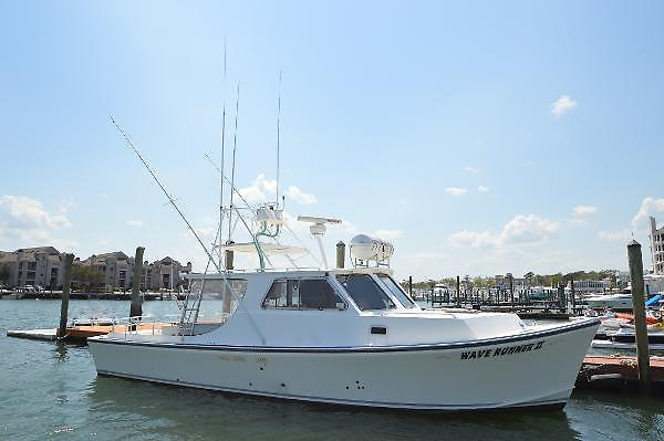 Used Evans Boats Custom Deadrise Express Fisherman Express Cruiser Boat For Sale