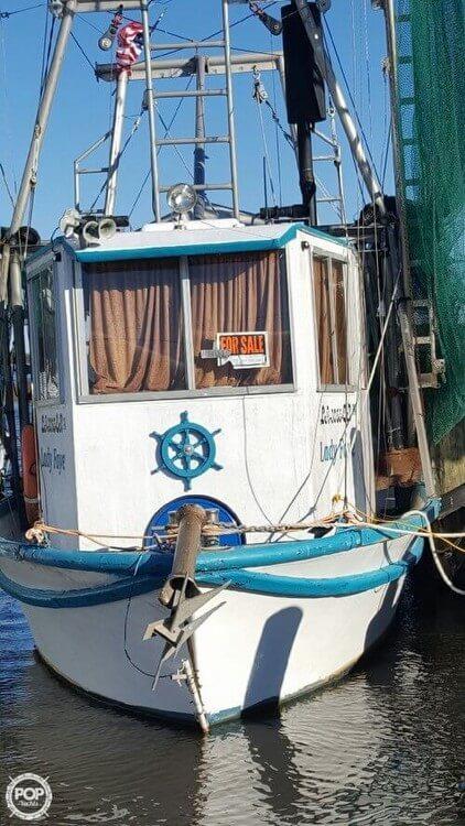 Used Custom 33 Shrimper Commercial Boat For Sale