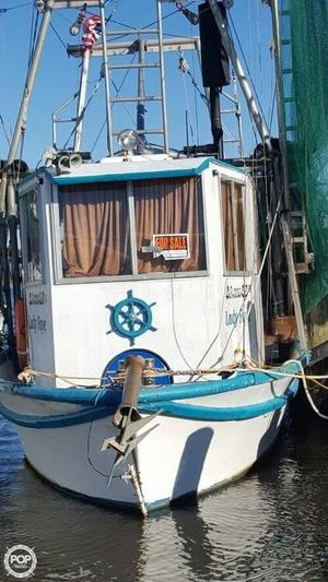 Used Custom 33 Shrimper Commercial Boat For Sale