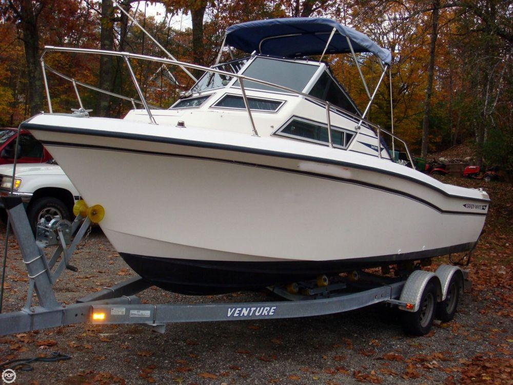1990 used grady white seafarer 22 wa lkaround fishing boat for Grady white fishing boats