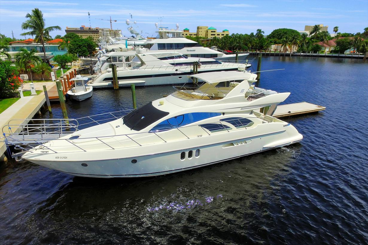 2003 used azimut motor yacht for sale 449 000 fort for Used motor yachts for sale in florida