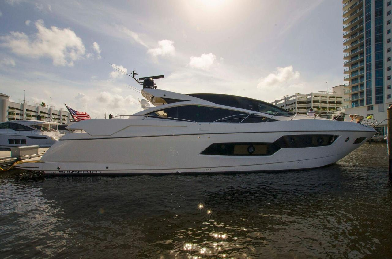 2013 used sunseeker predator 80 motor yacht for sale for Motor yachts for sale in florida