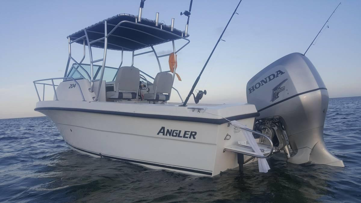 2007 used angler 204 walkaround fishing boat for sale for Angler fish for sale