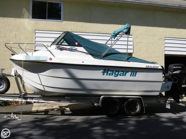 Used Kevlacat 2000 Series Power Catamaran Boat For Sale