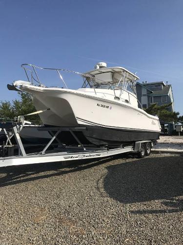 Used Prokat 2860 Walk Around Saltwater Fishing Boat For Sale