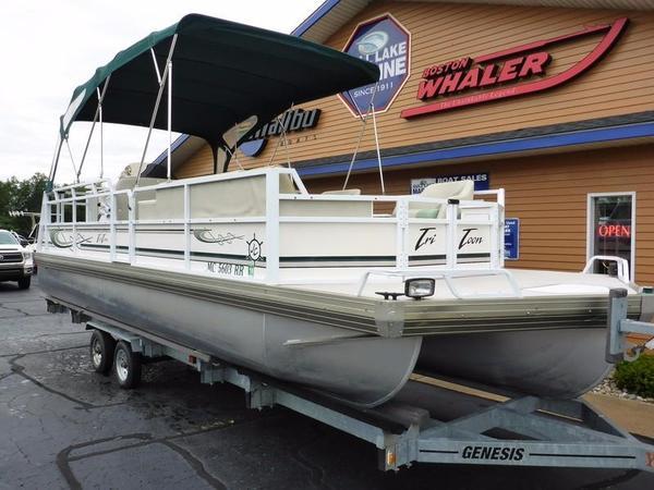 Used Jc Tritoon 266 I/O Tritoon Pontoon Boat For Sale