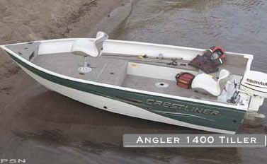 Used Crestliner Angler 1400 Freshwater Fishing Boat For Sale