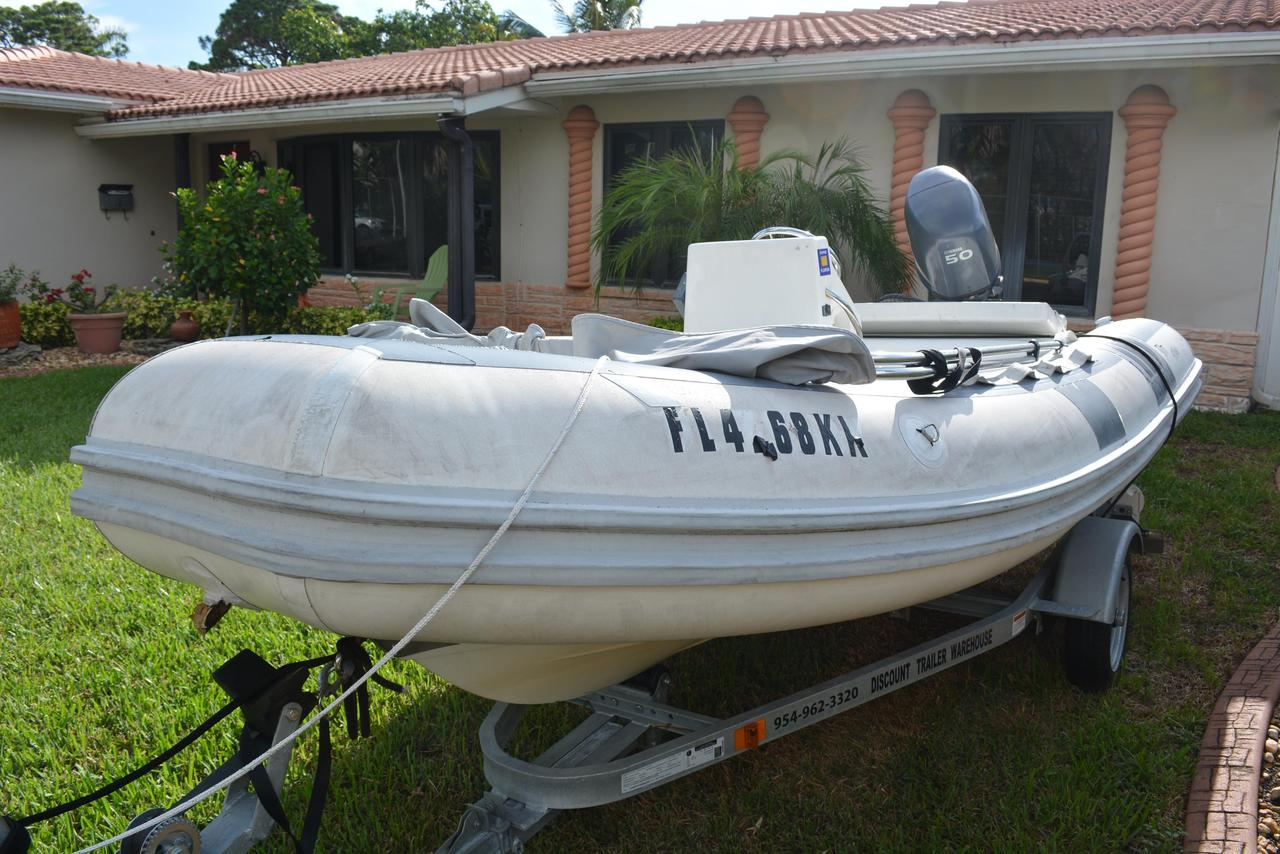 1999 Used Novurania Hard Bottom Inflatable Rib Dinghie Boat For Sale