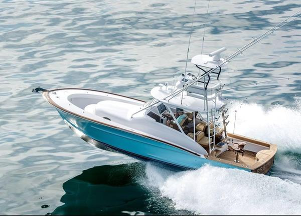 Used Winter Custom Yachts 38 Walkaround Saltwater Fishing Boat For Sale