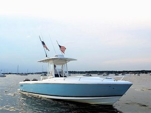 Used Intrepid 322 CC Cuddy Center Console Fishing Boat For Sale